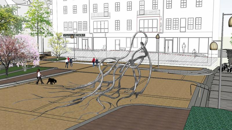 Möt konstnären bakom torgets nya skulptur