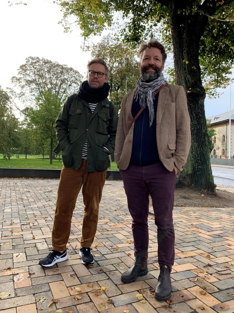 Landskapsarkitekterna Tobias Starck och Niklas Bosrup från arkitektbyrån Sydväst arkitektur och landskap