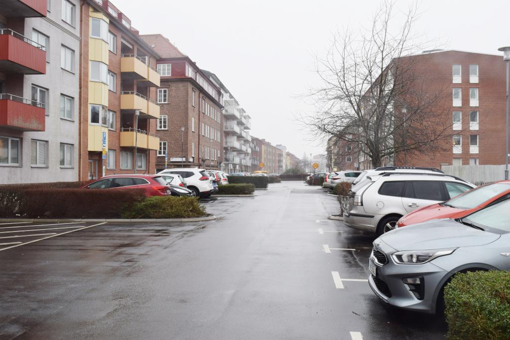 Parkeringsplatser på Kanalgatan i Eslöv