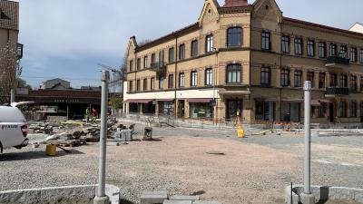 Korsningen Östergatan/Kvarngatan öppnas igen redan i mitten av maj
