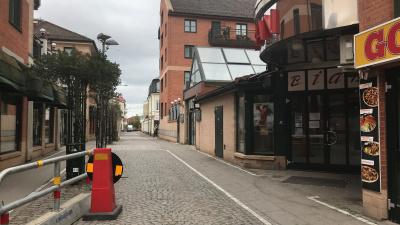 Södra delen av Köpmansgatan avstängd från 4 maj