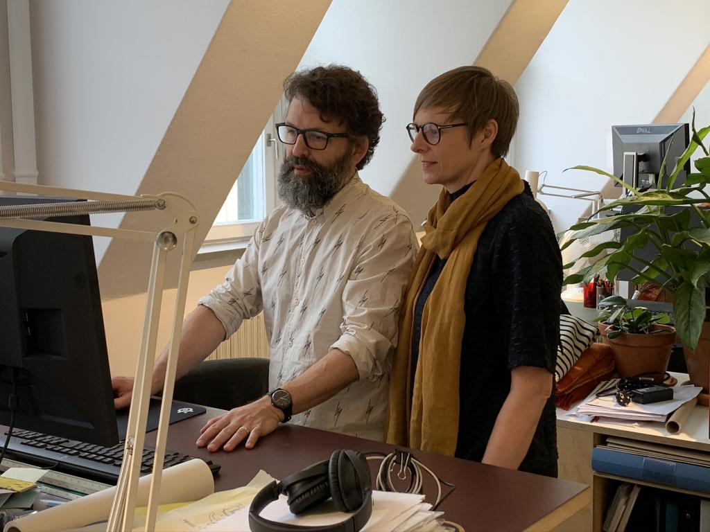 Arkitekterna Niklas Bosrup och Åsa von Malortie på Sydväst arkitektur och landskap.