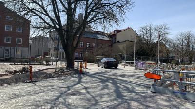 Korsningen Badhusparken/Storgatan/Östergatan är nu öppen